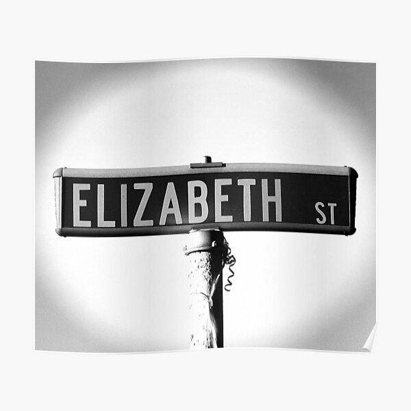 A Street Sign Named Elizabeth Poster