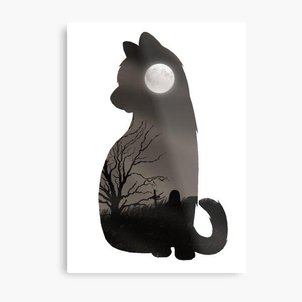 Shadowclan Cat Metal Print