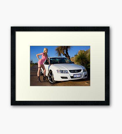Hot Girls love Hot Cars Framed Print