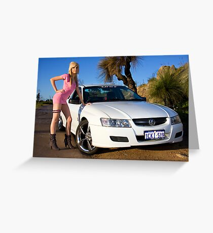 Hot Girls love Hot Cars Greeting Card