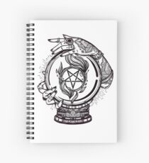 Psychic Reader with Crystal Ball and the Sigil of Baphomet Spiral Notebook