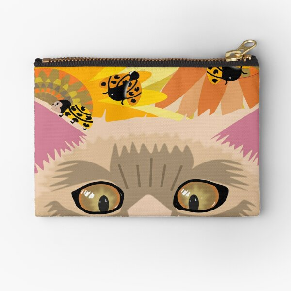 Too Many Ladybugs Pastel Zipper Pouch