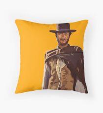 Man with No Name Throw Pillow