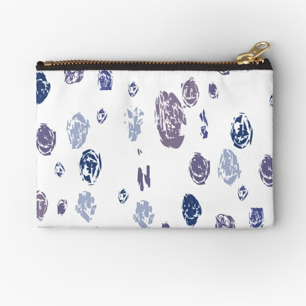 Abstract Purple and Blue Raindrops pattern Zipper Pouch