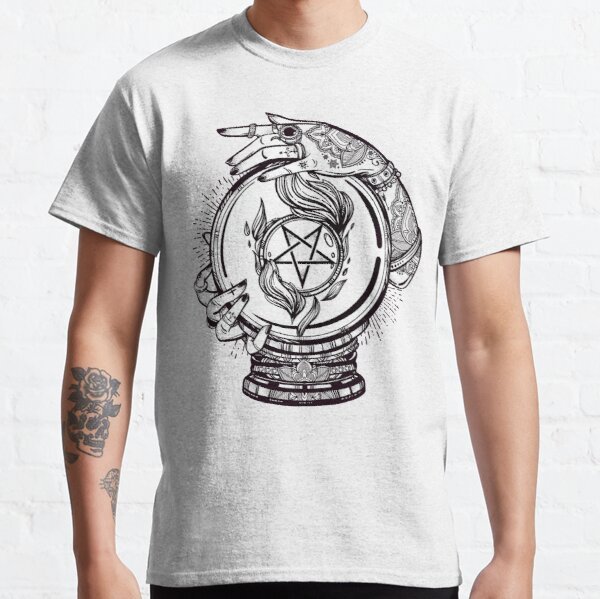 Psychic Reader with Crystal Ball and the Sigil of Baphomet Classic T-Shirt