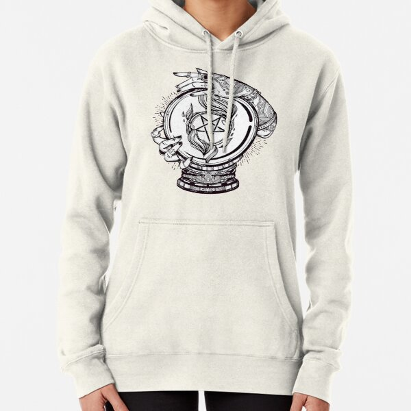 Psychic Reader with Crystal Ball and the Sigil of Baphomet Pullover Hoodie