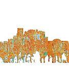El Paso, Texas Skyline - Rost von Marlene Watson
