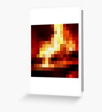 Fireplace Greeting Card