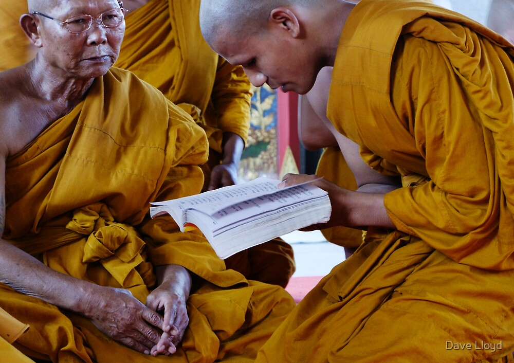 Monks In Study by Dave Lloyd