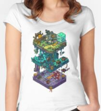 Dungeons and Isometric Dragons Women's Fitted Scoop T-Shirt