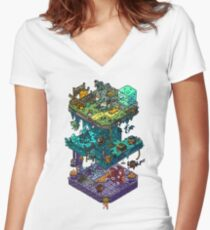 Dungeons and Isometric Dragons Women's Fitted V-Neck T-Shirt