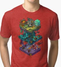 Dungeons and Isometric Dragons Tri-blend T-Shirt
