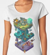 Dungeons and Isometric Dragons Premium Scoop T-Shirt