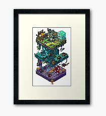 Dungeons and Isometric Dragons Framed Art Print