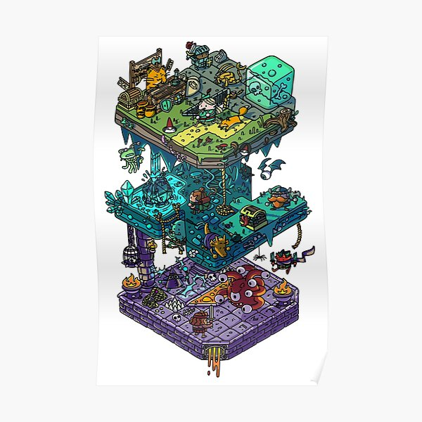 Dungeons and Isometric Dragons Poster