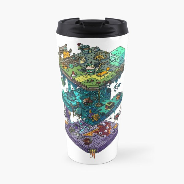 Dungeons and Isometric Dragons Travel Mug