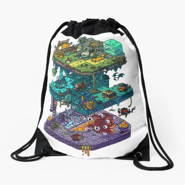 Dungeons and Isometric Dragons Drawstring Bag
