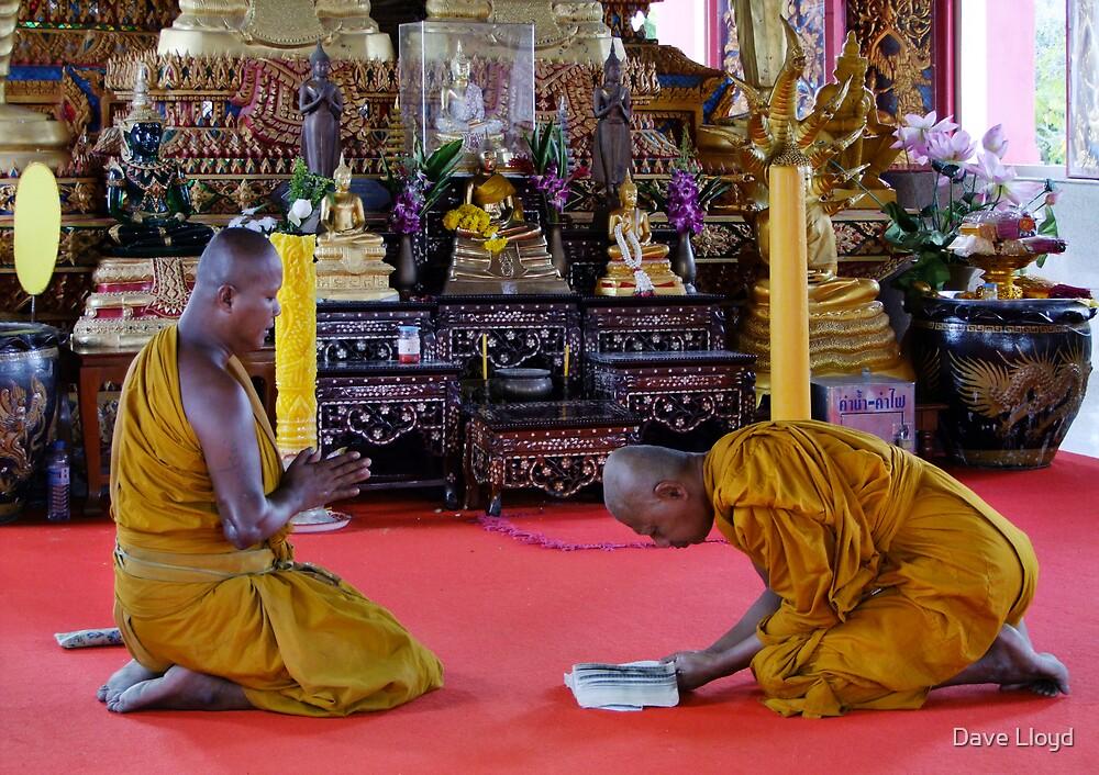 Monks At Prayer by Dave Lloyd