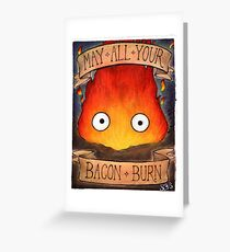 Studio Ghibli Illustration: CALCIFER #2 Greeting Card