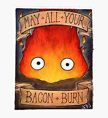 Studio Ghibli Illustration: CALCIFER #2 Photographic Print