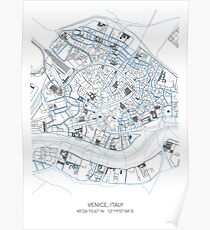 VENICE MAP Poster