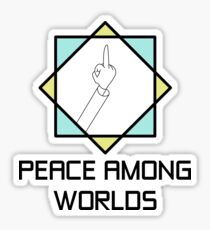Flip off for Peace Sticker