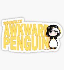 Socially Awkward Penguin - Mia Sticker