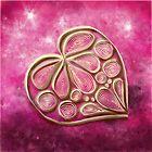 Pink Quill Heart by danita clark