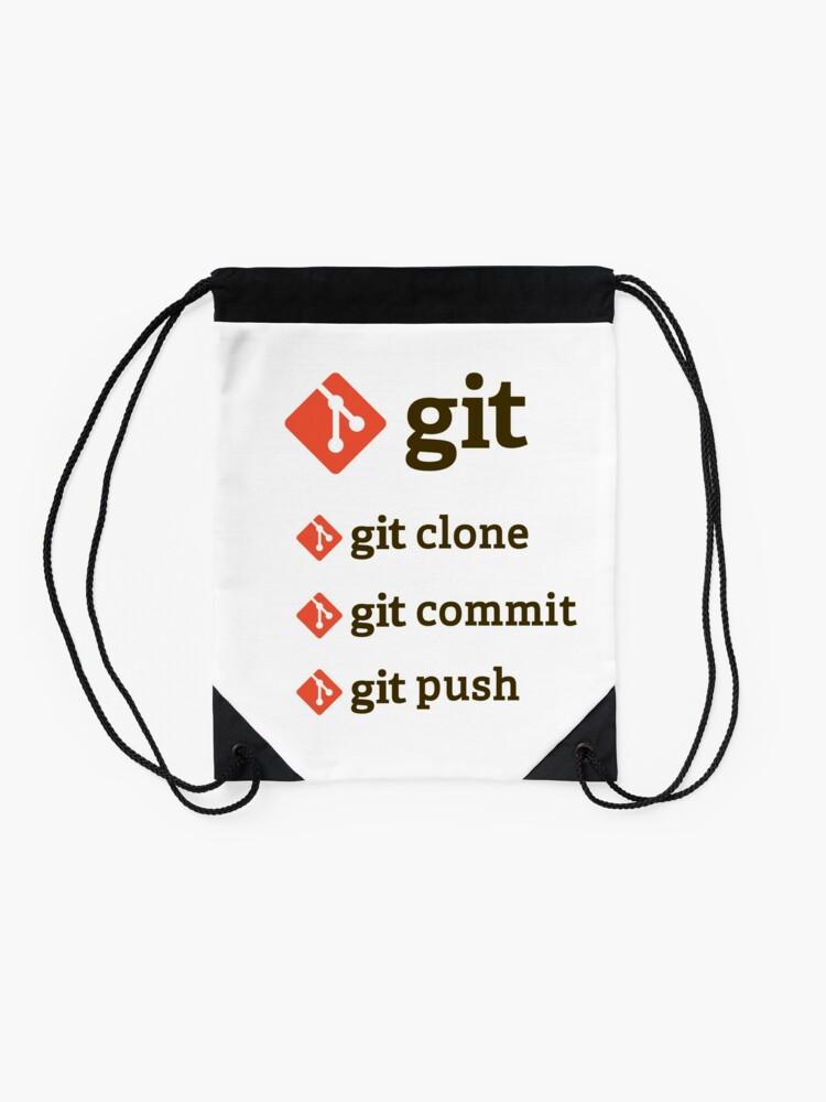 Vista alternativa de Mochila saco git commands sticker set