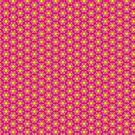 Yellow flower on Pink Geometric Pattern by webgrrl