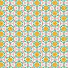 Geometry Dancefloor | Aqua Orange Pink by webgrrl