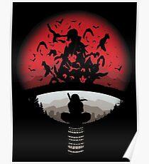 Itachi uchiha red moon naruto Poster