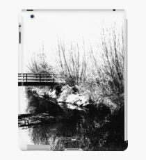 Bridge and Stream Winter Scene iPad Case/Skin