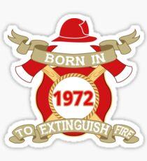 Born 1972 Fire Feuerwehr Sticker
