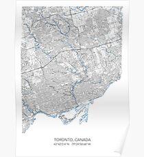 TORONTO MAP Poster