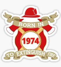 Born 1974 Fire Feuerwehr Sticker