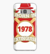 Born 1978 Fire Feuerwehr Samsung Galaxy Case/Skin