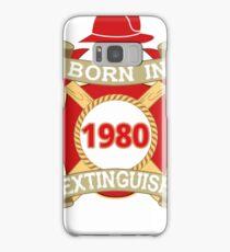 Born 1980 Fire Feuerwehr Samsung Galaxy Case/Skin