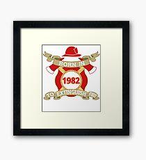 Born 1982 Fire Feuerwehr Framed Print