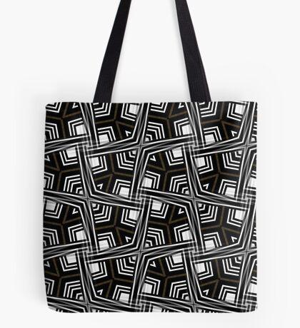 Black White + Bronze Gold   June Tote Bag