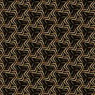 Burgundy Gold Korner Pattern by webgrrl