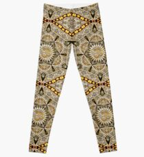 c8cf4cc4d5 Bohemian Yoga Gold Om Geometry Art Leggings