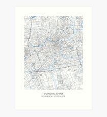 SHANGHAI MAP Art Print