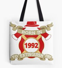 Born 1992 Fire Feuerwehr Tote Bag