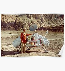 Carl Sagan and Viking Lander in Death Valley, California Poster