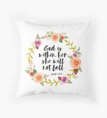Christian Quote Floor Pillow