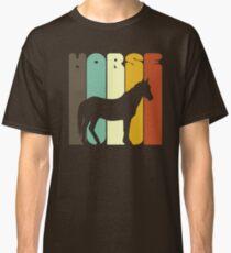 Pferdeliebhaber T-Shirt in Vintage-Farben Classic T-Shirt