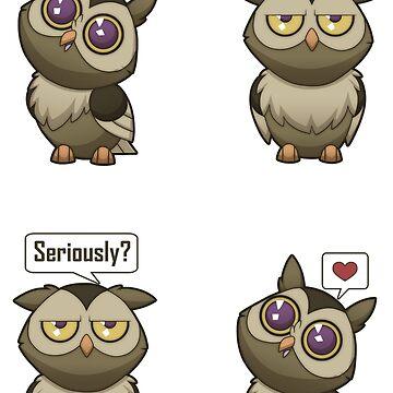 Love Owl [Brown] by plaguewolfen