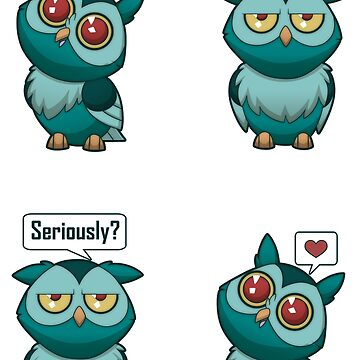Love Owl [Teal] by plaguewolfen