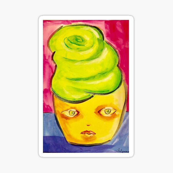Miss Yellow (of the Cupcake Mafia) Sticker